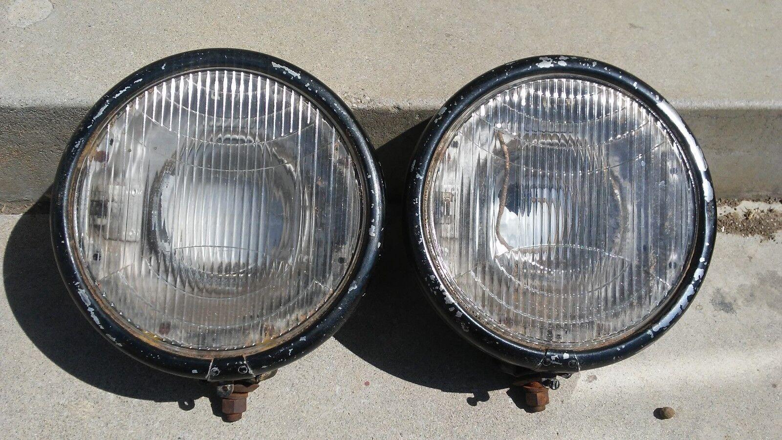 DURANT  GLOLITE  1930 - 1931  vintage head light BUCKETS