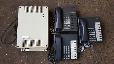 Toshiba Strata Dk8 Dksu8a Digital Telephone System With 3 Cordless Phones