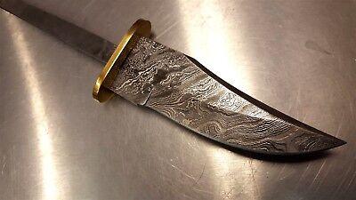 Hidden Tang Damascus Steel Knife Makers blade blank DIY - Hidden Knives