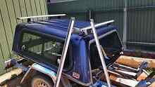 ARB Nissan Navara D22 canopy with Thule roof racks Modbury Tea Tree Gully Area Preview