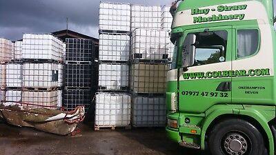 IBC Tanks 1000l CLEAN Water Butt Oil Storage Fuel Allotment Waste Liquid Farming for sale  Okehampton
