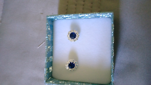 Swarovski sapphire earrings Forster Great Lakes Area Preview