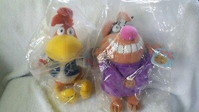 NEW 1998 General Mills Breakfast Pals Sonny Cuckoo Bird & Chip the Cookie Hound
