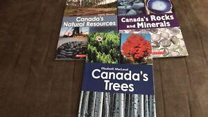 Canada close up books