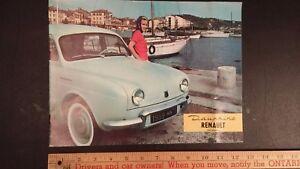 1959-RENAULT-Duaphine-Color-Dealer-Sales-Catalog-Good-Condition-FR