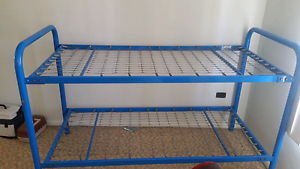Blue metal bunk bed Carina Brisbane South East Preview