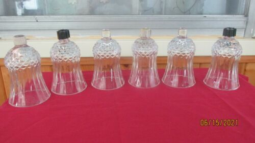 Lot of 6 Vintage Clear Diamond Point Small  Home Interior Votive Cups