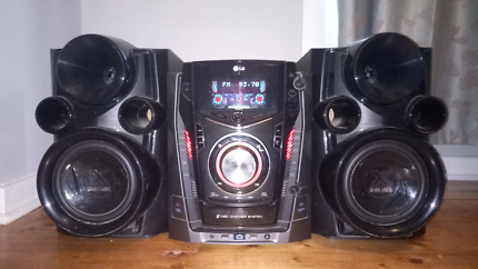 LG Stereo System with Dual USBs and 3 CD changer, works well.
