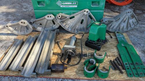 "Greenlee 881CT Bender EMT/IMC/Rigid 2-1/2"" to 4"" + 980 pump + 1813 table"