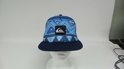 New Quiksilver Boardies Youth Trucker Hat - Blue Print - Free (Quiksilver Print Hat)