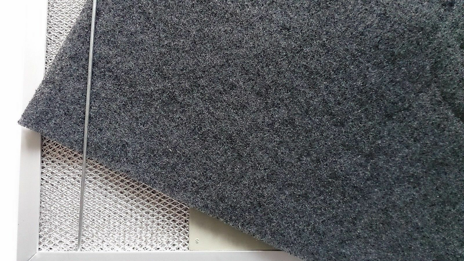 Aktivkohlefilter 38x55cm Universalfiltervlies Kohlefiltermatte Dunstabzugshaube