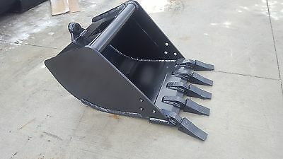 New 24 Tag Coupler Style Excavator Bucket Fits 9-12k Machines - 1.25 Pin