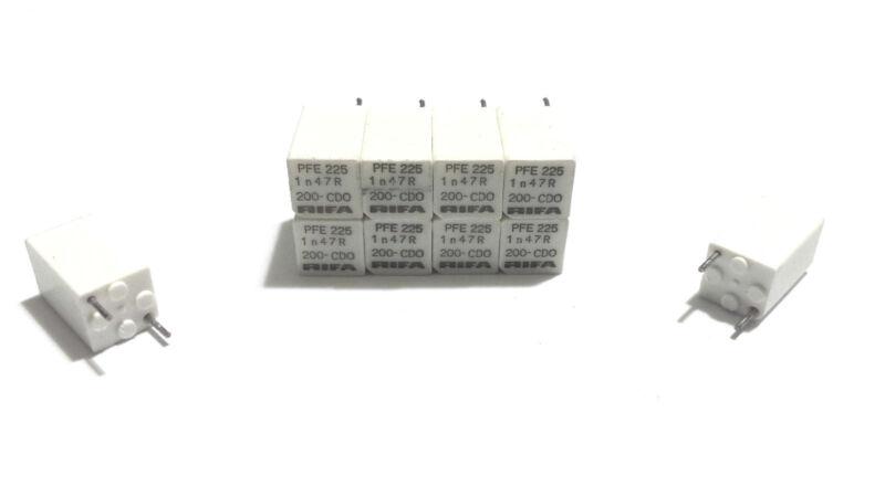 LOT OF 10 EACH NEW RIFA PFE 225 PFE225 CAPACITORS 1n 47R CDO 1.47 NF 200VDC