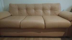 Reluctant Sale-1.8m 3-seater leather sofa in good condition East Victoria Park Victoria Park Area Preview