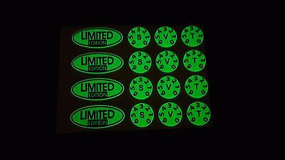LIMITED EDITION KIT GLOW IN THE DARK  DELKIM TXI PLUS EV DOMED Stickers / decals