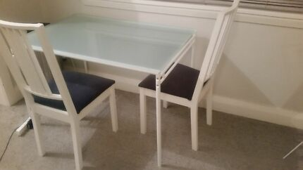 Glass top dining table in great condition with 2 chairs Randwick Eastern Suburbs Preview
