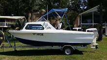 Mustang 15 ft Half / Cuddy Cabin Fishing Boat with Trailer 21May North Arm Cove Great Lakes Area Preview