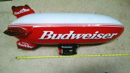 Budweiser Inflatable Blimp Sign Advertising Blow Up 30 Inch NIB New Bud Beer