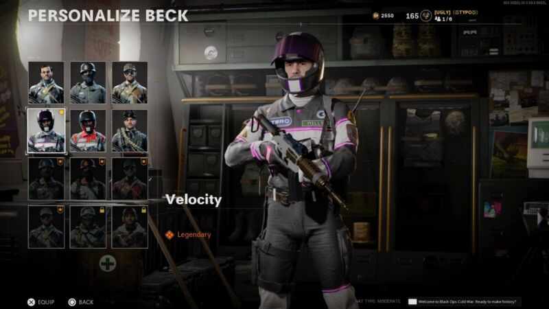 Call of Duty Black Ops Cold War Sky Velocity Racer Operator Skin (RAREST SKIN)