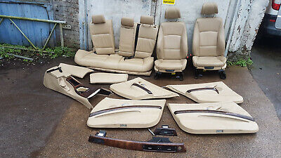 BMW 3 SERIES E91 ESTATE COMPLETE SET OF LEATHER SEATS WITH DOOR CARDS 2006 #GX