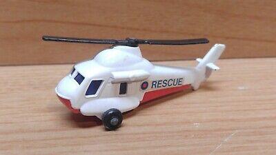Vintage Matchbox Lesney Superfast #75 Seasprite Helicopter ~ White, England 1976