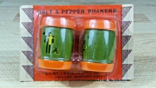 Vintage St. Labre Indian School Salt & Pepper Shakers Plastic Novelty Souvenir