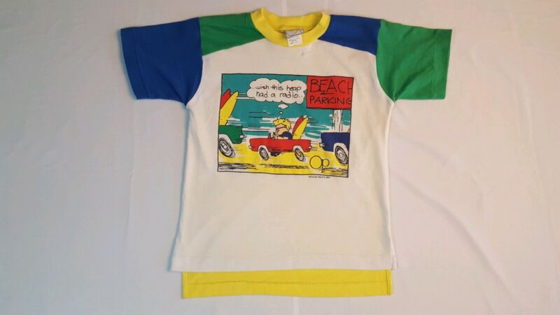 Vintage 80s OP T-Shirt Size Youth L 7 Ocean Pacific Surf Skate Beach