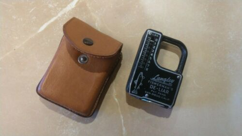 Rare VTG Langley De-Liar Measure&Scale in Exclusive of California Leather Pouch