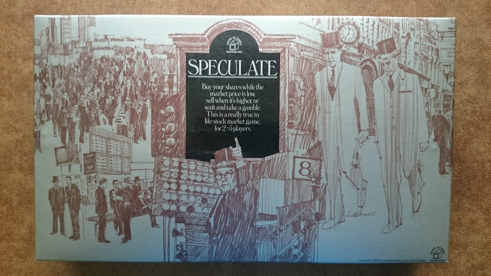 Speculate .. Board Game  By Waddingtons 1970