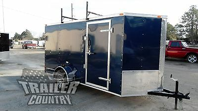 New 2019 6 X12 6 X 12 V Nose Enclosed Cargo Construction Trailer W Ladder Racks