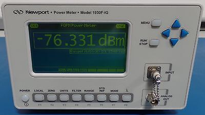Newport 1930f-ig-fc Ingaas Detector Fcpc Apc Optical Power Meter