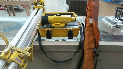 Topcon At-f2 Automatic Level With Tripod And Leveling Rod