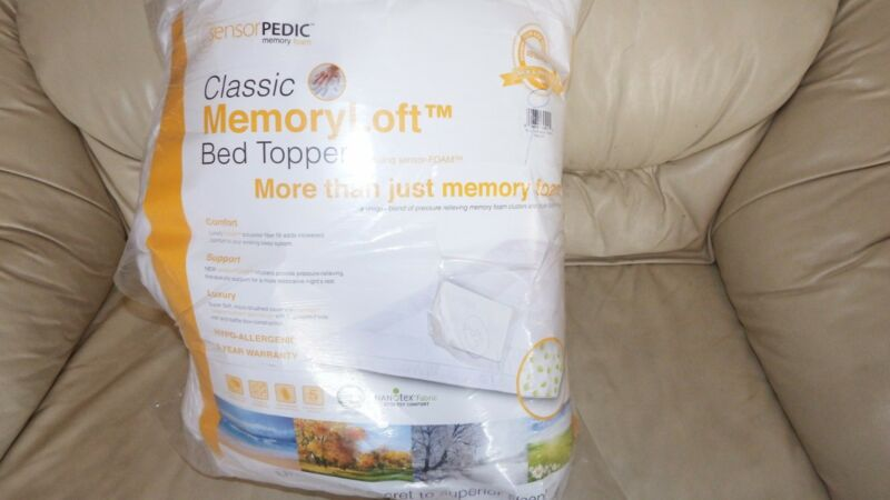 sensorPEDIC Memory Loft Classic Topper TWIN WHITE