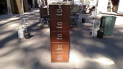 Vintage File Cabinet 5 Drawer Legal Wlock Key We Deliver Locally Northern Ca