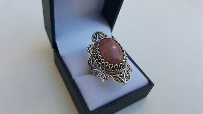 Beautiful Ladies Fine Estate Jewelry HSN Sterling Silver Gemstone Ring Size 10