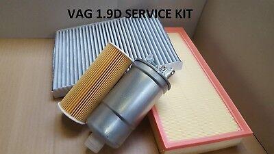 Używany, Fits Audi A3 1.9 Tdi Diesel 96-03 Oil, Fuel, Air & Cabin Filter Service Kit  A4 na sprzedaż  Wysyłka do Poland