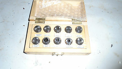Machinist Tools Mill Lathe Machinist Set Of Er 16 Collets In Box 18 To 38