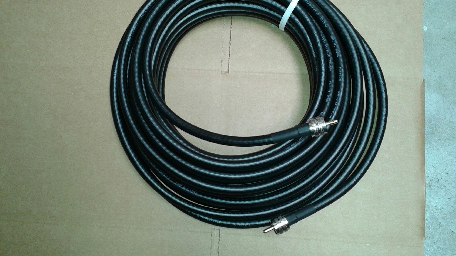 20 FT  LMR-400  Ham Radio LMR Antenna  PL-259 UHF to PL-259  Male  coax cable