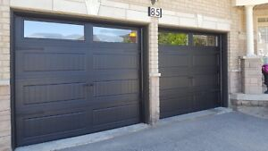 8x7 BLACK INSULATED CARRIAGE GARAGE DOORS....... $900