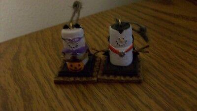 Set of 2 Halloween Smores Ornaments (Halloween Smores)