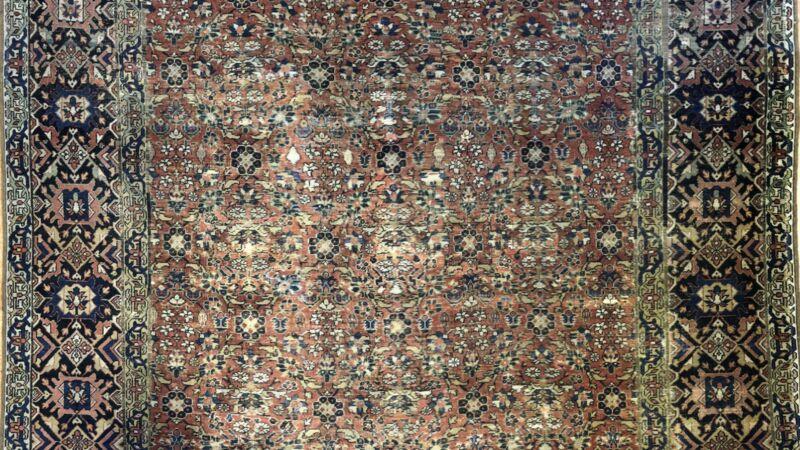 Fantastic Floral - 1890s Antique Oriental Rug - Handmade Carpet - 7.7 X 15.7 Ft.