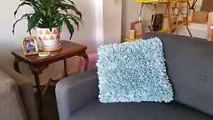 Morgan & Finch Blue Ruffled Cushion with Insert Yarraville Maribyrnong Area Preview