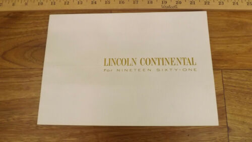 1959 Lincoln Continental Dealer Sales Brochure w/Specs,Color Samples
