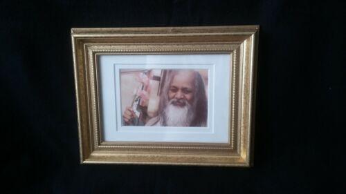 Maharishi Mahesh Yogi Portrait, Double Matted in Gilded Frame