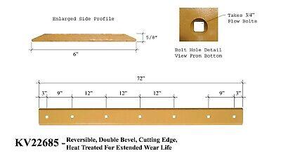 72 Skid Steer Cutting Edge Fits John Deere Reversible Heat Treated- Kv22685