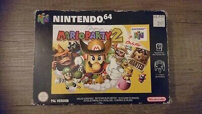 Jeu Game Mario party 2 en boîte + notice console Nintendo 64 N64 version PAL