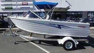 STACER 449 SEAWAY RUNABOUT (BUILT 12/2016) + YAMAHA 60HP 4-STROKE Boondall Brisbane North East Preview