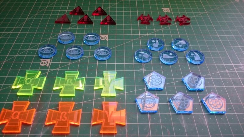 Star Wars X Wing Miniatures Tokens Bundle Handmade Transparent