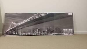 Canvas Wall Art - New York bridge ( black/white) Keysborough Greater Dandenong Preview