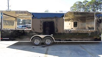 New 8.5x26 8.5 X 26 Enclosed Concession Food Vending Bbq Trailer W Porch Deck